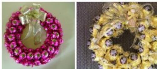 A guirlanda de bombons é tendência na decoração.