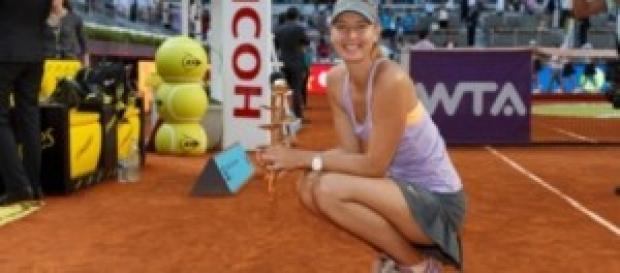 La impresionante tenista rusa María Sharapova.