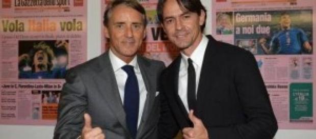 Roberto Mancini e Pippo Inzaghi