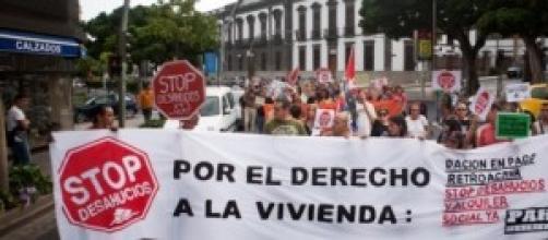 Manifestación por el derecho a la vivienda
