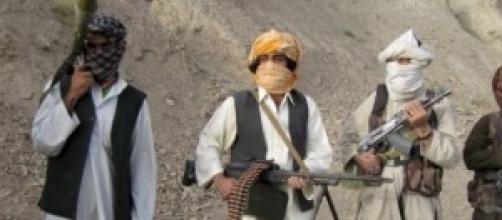 Un gruppo di talebani afghani.