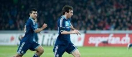 Sergio Aguero and Lionel Messi