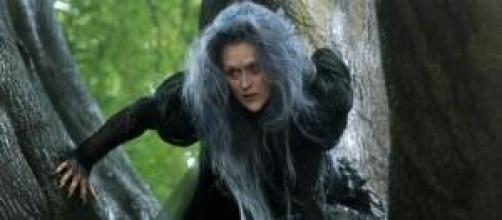Meryl Streep como la malvada bruja
