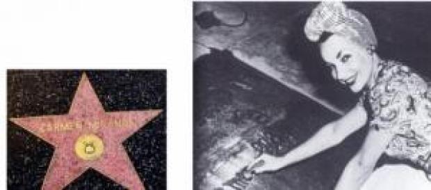 Calçada da Fama - Carmen Miranda