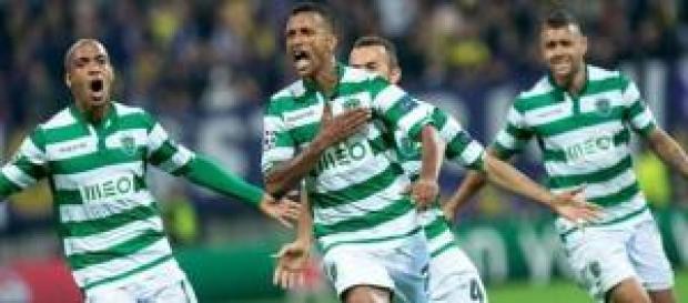 Nani dello Sporting, in rete contro il Maribor