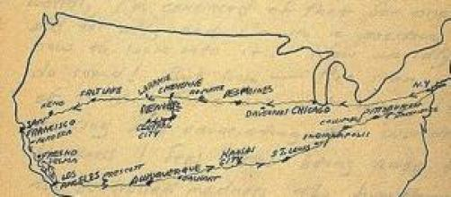 Ruta 66 seguida por Kerouac