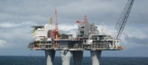 Una plataforma petrolífera