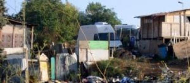 Campo Rom a via di Torrevecchia a Roma