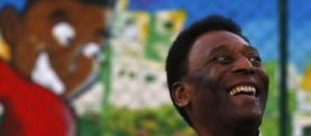 Il campione di sempre Pelè, 74 anni
