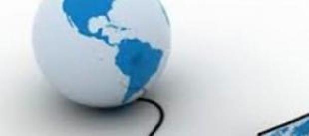 Ilustração da rede mundial de computadores.
