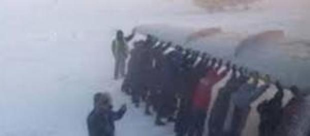 Muchísimo frioooo en Siberia