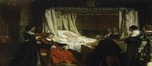 La reina Isabel haciendo testamento (Rosales).