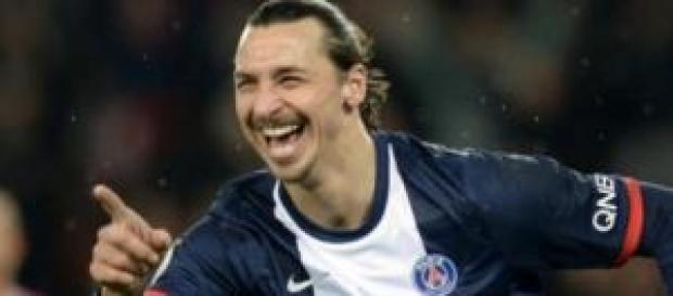 Zlatan Ibrahimovic attaccante del Psg