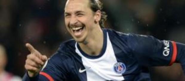 Zlatan Ibrahimovic durante un'esultanza