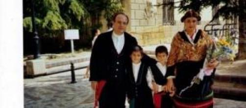 Una familia manchega feliz