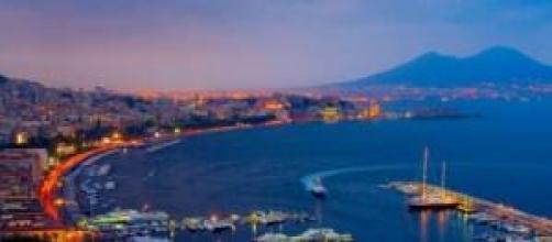 Vista del bellissimo golfo di Napoli