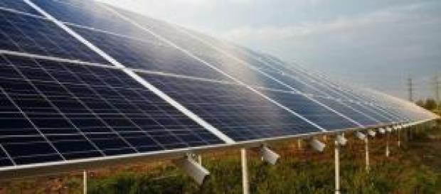 Central solar em funcionamento