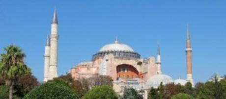 Santa Sofía desde el parque de Sultanahmet