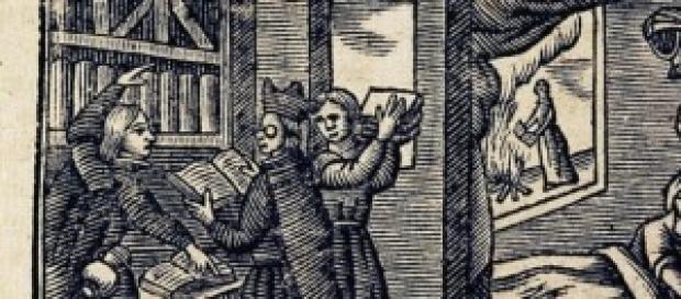 El escrutinio de la biblioteca de Don Quijote.
