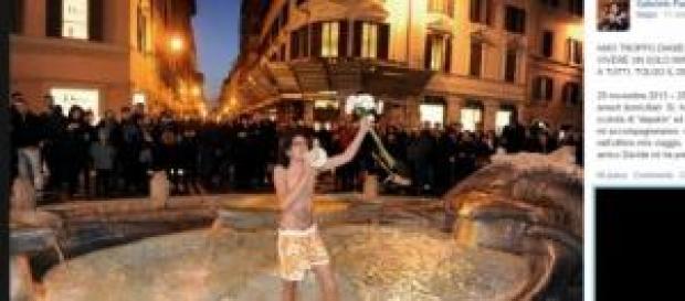 Paolini annuncia su facebook il suicidio