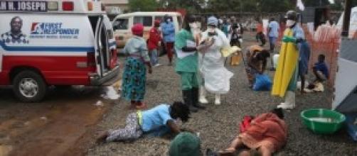 Villaggio colpito dall'Ebola