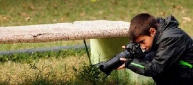 Carlos Pérez fotografiando animales y naturaleza
