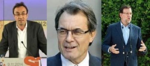 Josep Rull, Artur Mas, Mariano Rajoy: pulso a tres