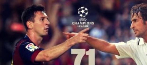 Messi y Raúl, con 71 goles. Foto: alacancha.net