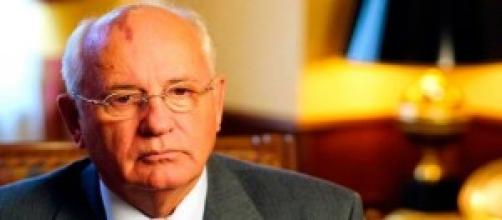 Mijaíl Gorbachov en Alemania.