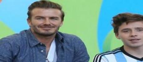 David y Brooklyn Beckham
