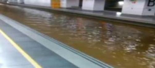 Estación AVE en Girona convertida en canal