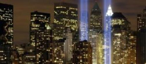 New York, luces que recrean las Torres Gemelas