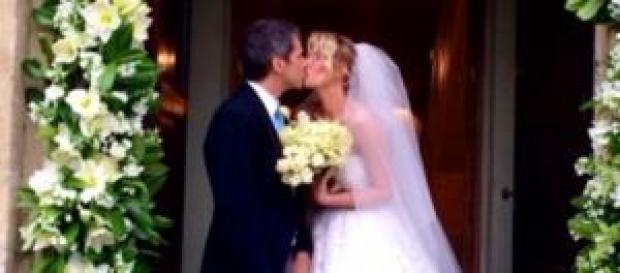 Alessia Marcuzzi sposa foto del matrimonio