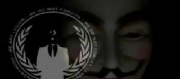 Screenshot d'une vidéo des Anonymous