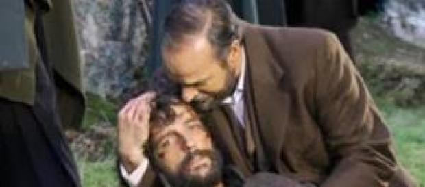 Sebastian muore tra le braccia del padre.