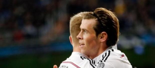 Bale y Kroos celebran un gol. Foto: Real Madrid