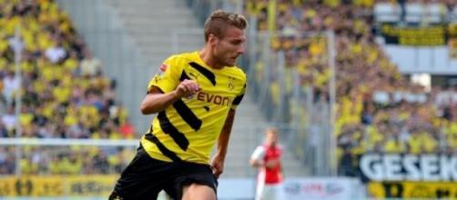 Ciro Immobile con la maglia del Borussia Dortmund