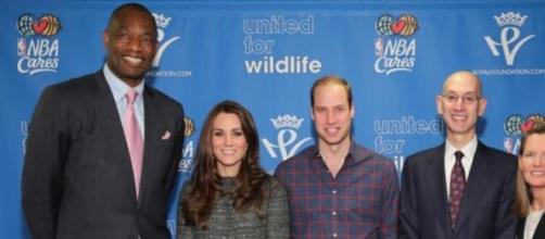 Kate Middleton y Principe Guillermo en la NBA.