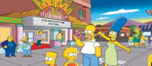 Los Simpson cuando cumplieron su 20 aniversario.
