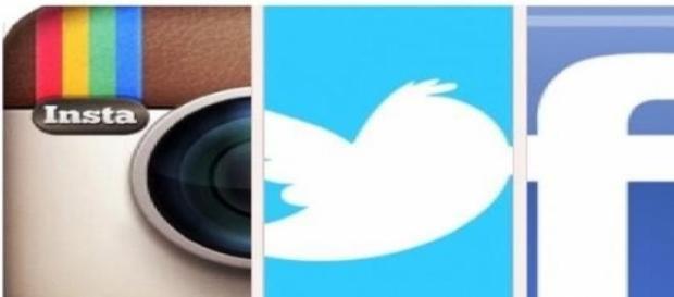 Facebook Instagram y Twitter