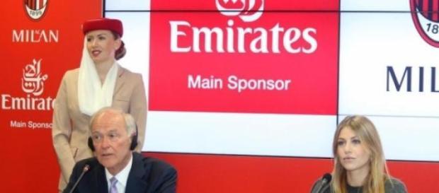 La conferenza stampa tra Milan ed Emirates