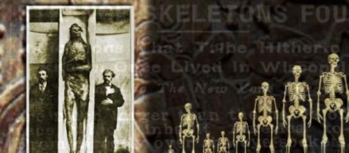 fotografia de momia de gigante.