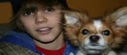 Justin Bieber junto a su mascota Sammy