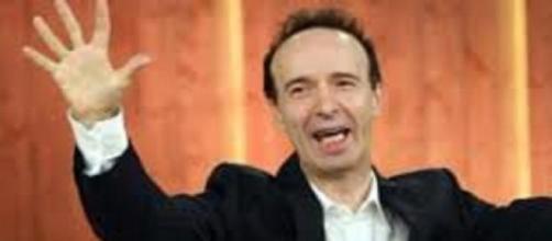 nella foto, il famoso comico Roberto Benigni