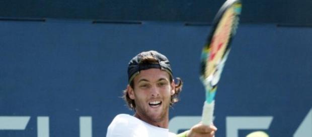 João Sousa em acção no US Open de 2013.