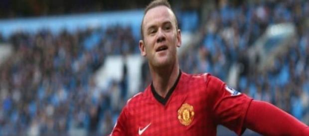 Wayne Rooney centravanti Manchester United