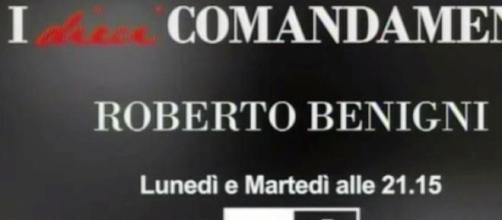 I dieci comandamenti Roberto Benigni diretta Rai1