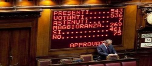 la votazione sul ddl anti-corruzione