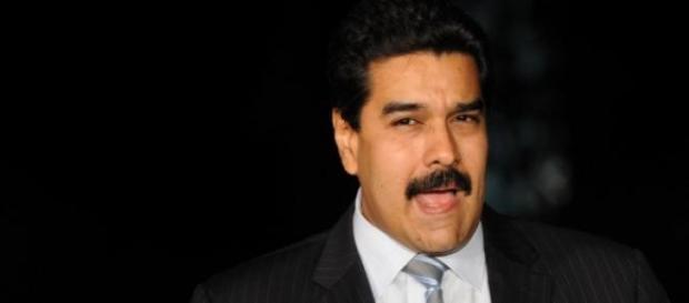 Nicolás Maduro en un acto público