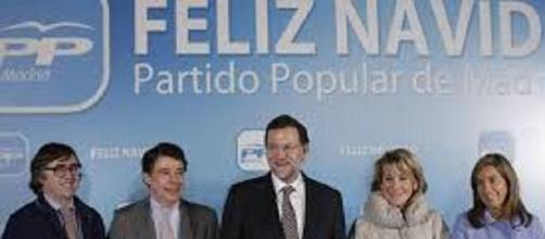 Rajoy, Aguirre y González en la Navidad del 2013